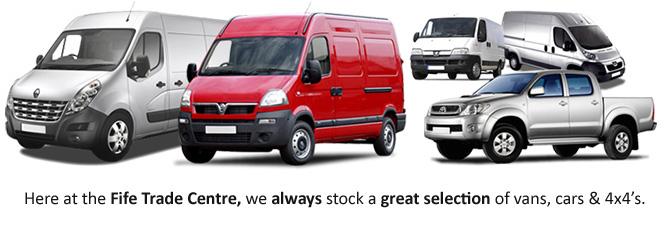 vans for sale fife vans cars 4x4 39 s at fife trade centre. Black Bedroom Furniture Sets. Home Design Ideas